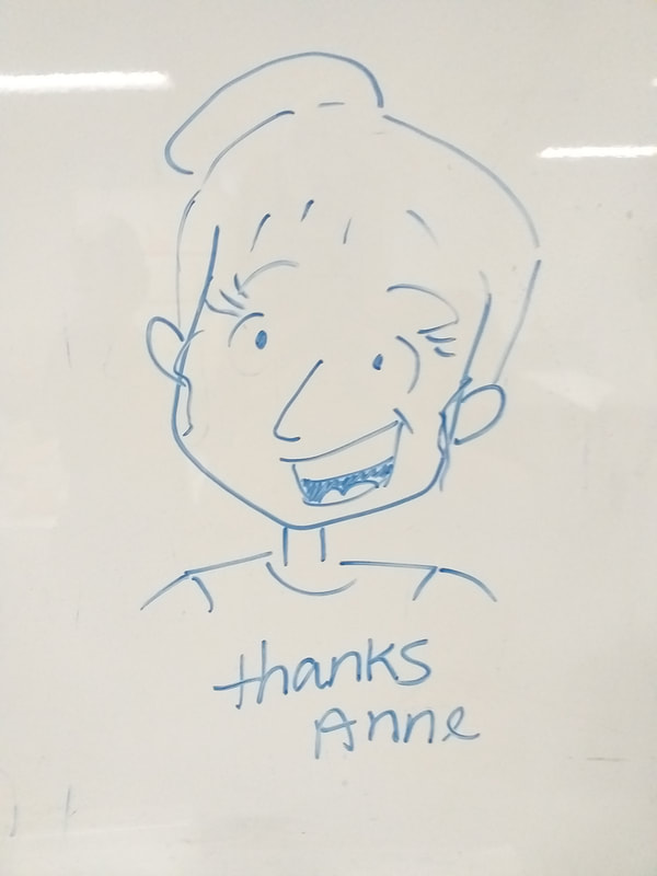 RN drawing on whiteboard